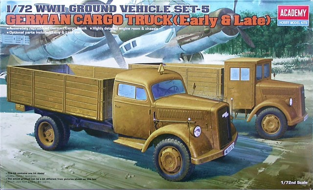 1/72 German Cargo Truck (Early & Late)