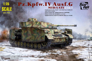1/35 German Medium Tank Panzer IV Sd.Kfz.161 Pz.Kpfw.IV Ausg.G MID/LATE 2in1 - Hobby Sense