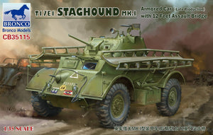 1/35 T17E1 Staghound Mk.I Armored Car w/12 Feet Assault Bridge, Canadian markings - Hobby Sense