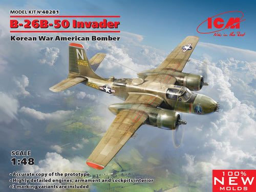 1/48 B-26B-50 Invader, Korean War American Bomber