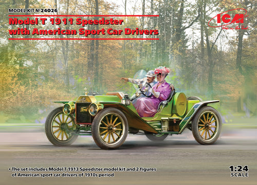 1/24 Model T 1913 Speedster with American Sport Car Drivers - Hobby Sense