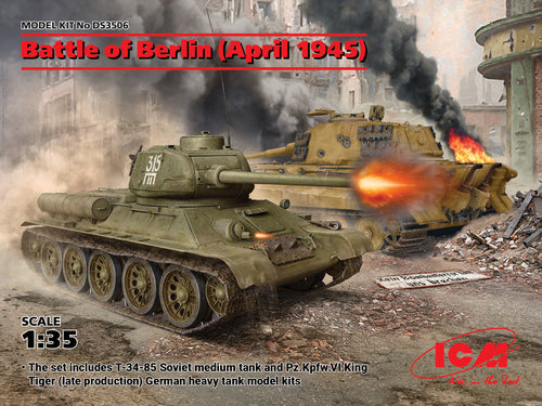 1/35 Battle of Berlin April 1945, T-34-85 and King Tiger tanks