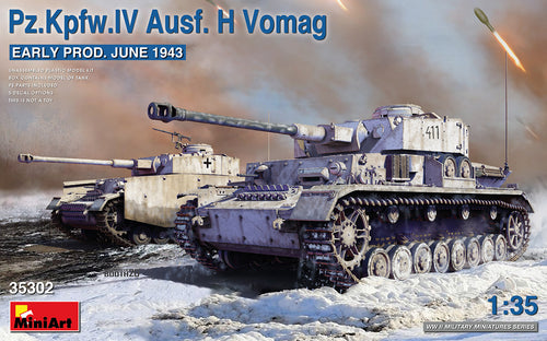 1/35 Pz.Kpfw.IV Ausf. H Vomag. Early Production June 1943 - Hobby Sense