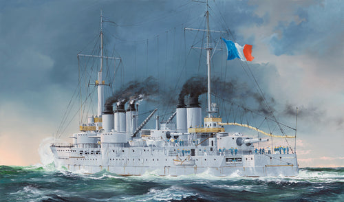1/350 French Navy Pre-Dreadnought Battleship Condorcet - Hobby Sense