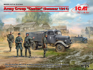 "1/35 Army Group ""Center"", Summer 1941, Kfz.1, Typ L3000S, German Infantry 4 figures, German Drivers 4 figures - Hobby Sense"