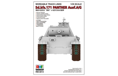 1/35 Workable Track Links For Panther Ausf.A/G
