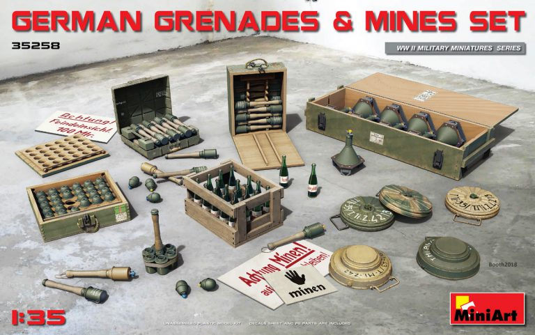 1/35 German Grenades & Mines Set