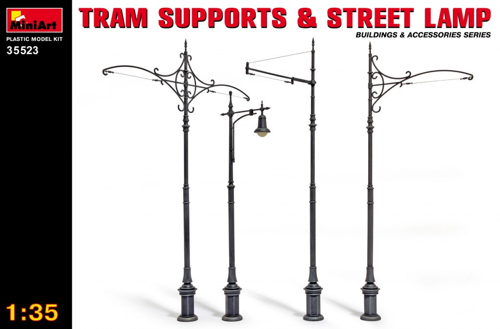 1/35 Tram Supports and Street Lamps - Hobby Sense