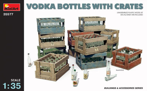 Vodka Bottles with Crates