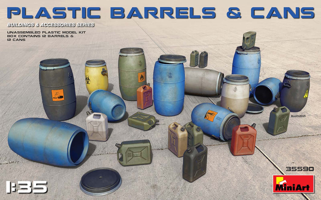 1/35 Plastic Barrels and Cans