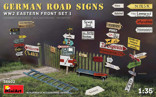 1/35 German Road Signs WWII (Eastern Front set 1)