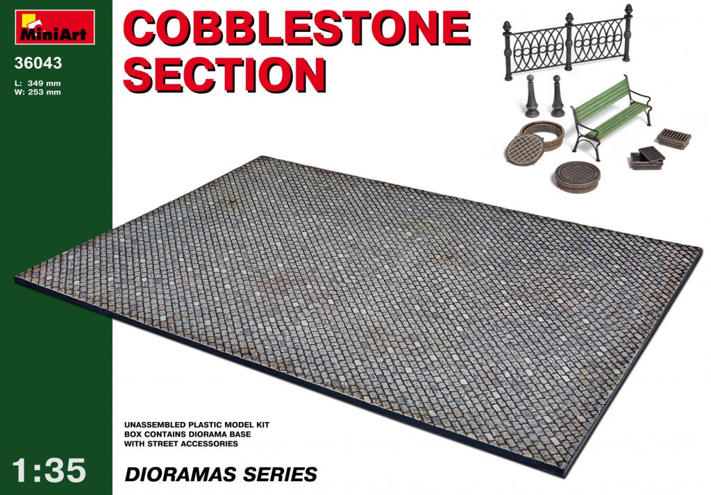 1/35 Cobblestone section - Hobby Sense