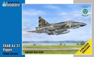 "1/48 SAAB AJ 37 Viggen ""Attack Version"", Updated edition"