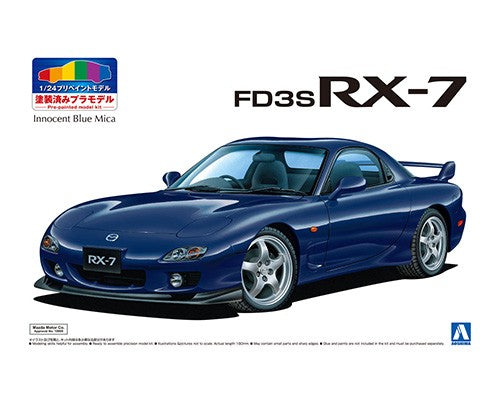 1/24 '99 Mazda FD3S RX-7 (Innocent Blue Mica, prepainted)
