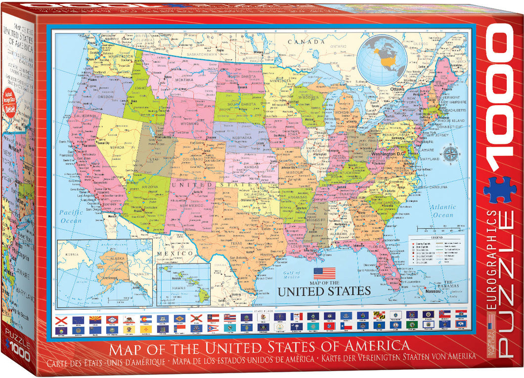 Map of the United States - Hobby Sense
