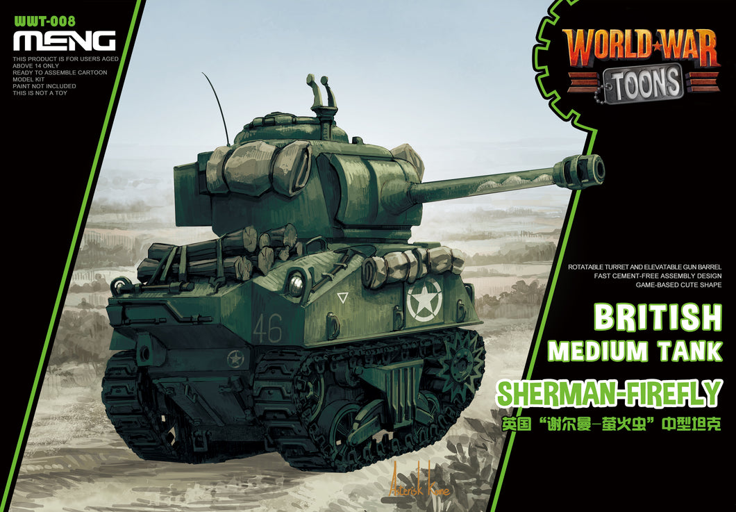Sherman Fireffly British Medium Tank, World War Toons - Hobby Sense