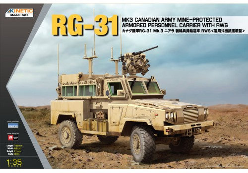 RG-31 MK3 Canadian Army Mine-Protected Armored Personnel Carrier with RWS - Hobby Sense