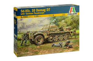 1/35 Sd.Kfz. 10 Demag D7 with German Paratroops - Hobby Sense
