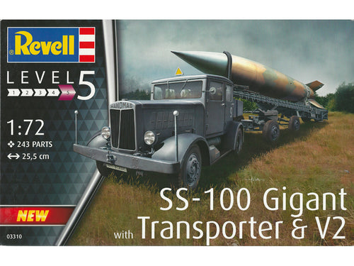1/72 SS100 Gigant with Transporter and V2