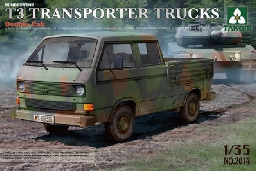 Bundeswehr T3 Transporter Double Cab Truck