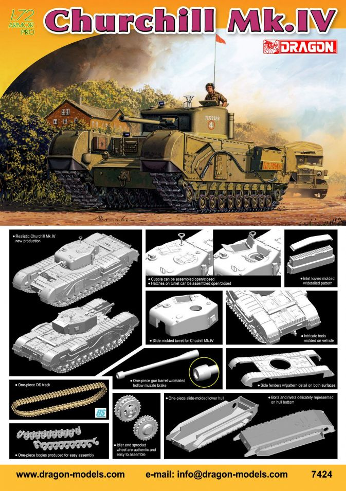 British Churchill Mk IV Tank