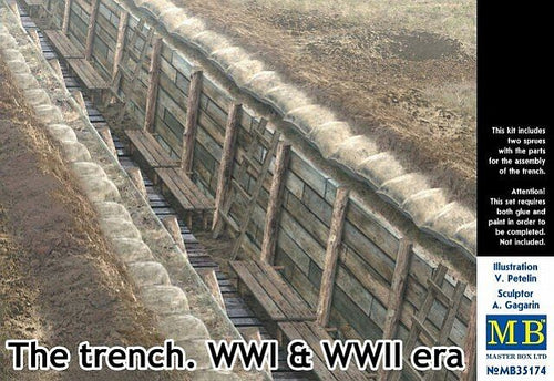 1/35 The Trench. WWI & WWII Era - Hobby Sense