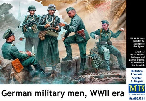1/35 German Military Men, WWII Era - Hobby Sense