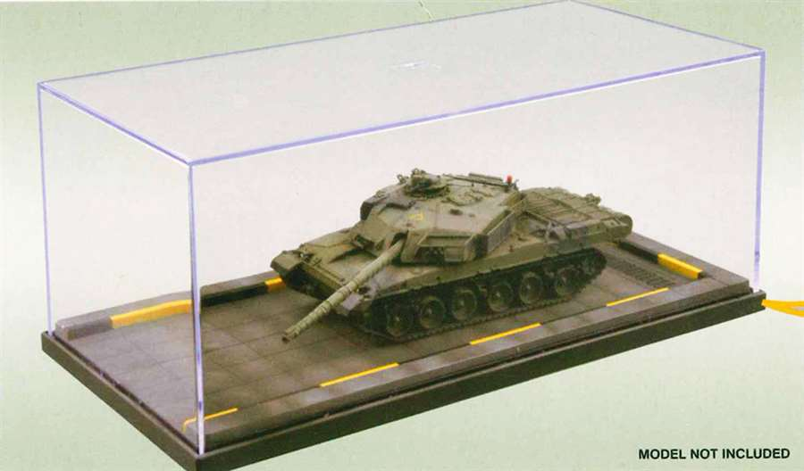 Display Case for 1/72 miliary, pre painted base - Hobby Sense