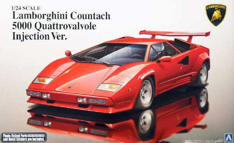 1/24 Lamborghini Countach 5000QV Injection Sports Car - Hobby Sense