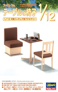 1/12 Family Restaurant Table and Chair (snap)