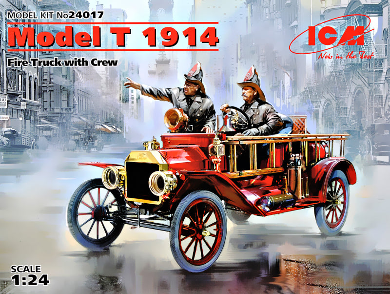 1/24 Model T 1914 Fire Truck with Crew - Hobby Sense