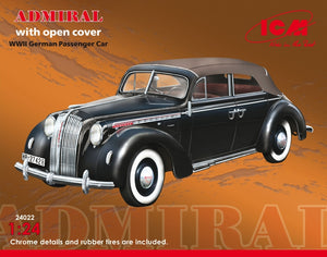 1/24 Admiral with open cover, WWII German passenger car - Hobby Sense