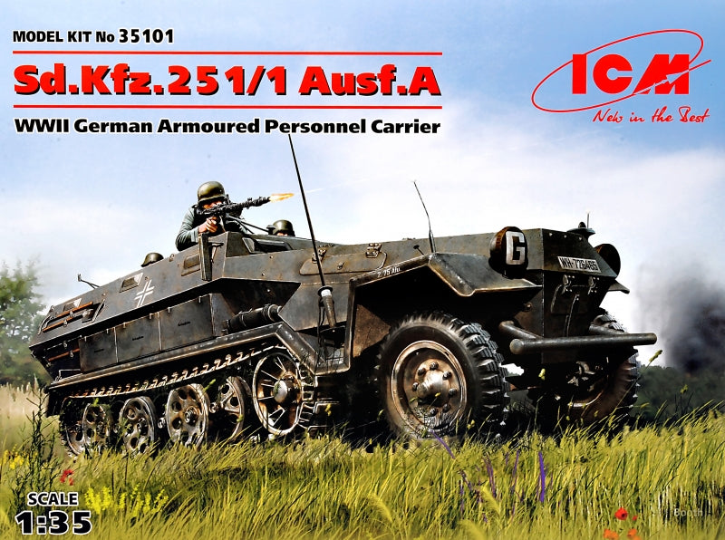1/35 German armored personnel carrier Sd.Kfz.251 / 1 Ausf.A, WW IIи - Hobby Sense