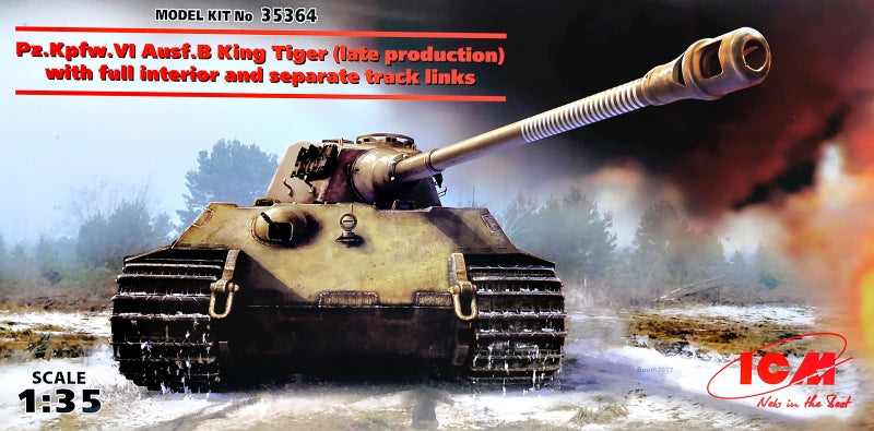 1/35 King Tiger (late production) with full interior, WWII German Heavy Tank - Hobby Sense