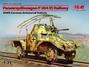 1/35 Panzerspähwagen P 204 (f) Railway, WWII German armored vehicle - Hobby Sense