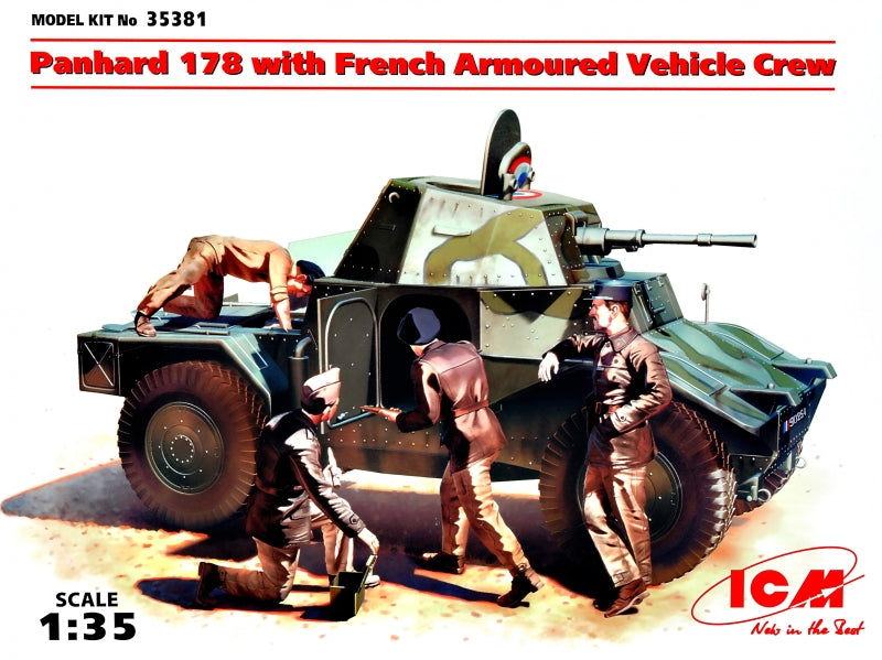 Panhard 178 with French Armoured Vehicle Crew - Hobby Sense