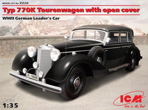 1/35 Typ 770K Tourenwagen with open cover, WWII German Leader's car - Hobby Sense
