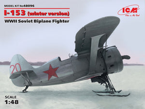1/48 I-153 Chaika WWII Soviet biplane fighter (winter version) - Hobby Sense
