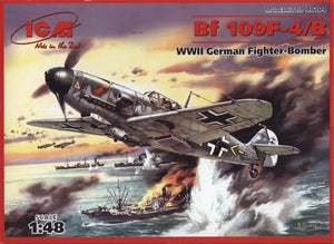 Messerschmitt Bf-109 F4/B WWII German fighter-bomber - Hobby Sense