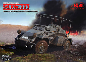 1/48 Sd.Kfz.223, German Radio Communication Vehicle - Hobby Sense