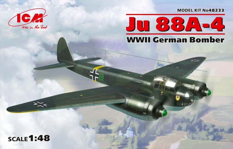 1/48 Junkers 88A-4, WWII German Bomber - Hobby Sense