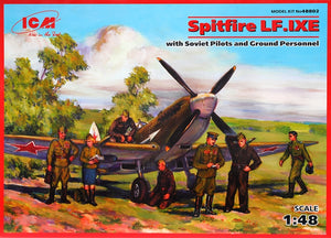 Spitfire LF.IXE with Soviet pilots & ground personnel - Hobby Sense