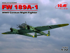 1/72 FW 189A-1, WWII German Night Fighter - Hobby Sense