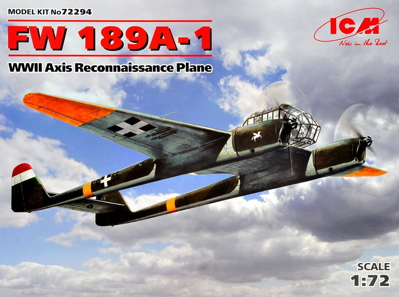 1/72 FW 189A-1, WWII Axis Reconnaissance Plane - Hobby Sense