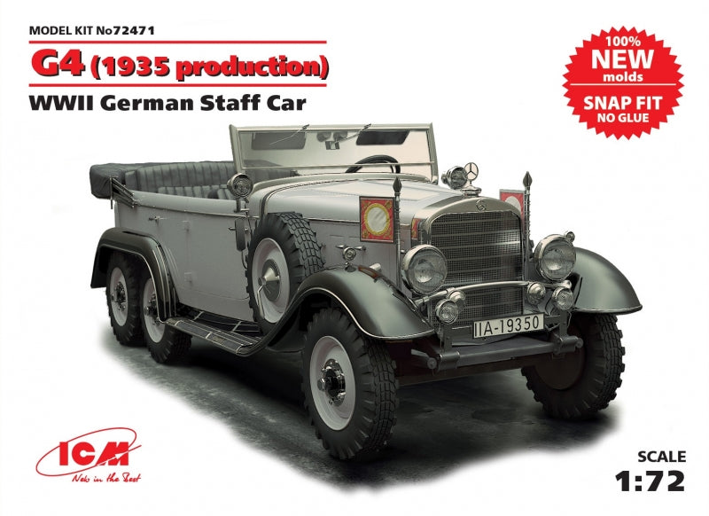 G4 (1935 production) WWII German staff car, snap fit/no glue - Hobby Sense