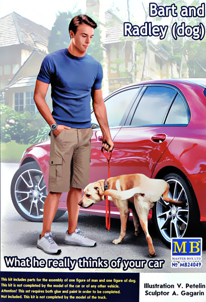 1/24 What he really thinks of your car. Bart and Radley (dog) - Hobby Sense