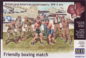 1/35 Friendly boxing match. British and American paratroopers - Hobby Sense