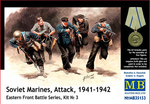 Soviet marines, Attack, 1941-1942. Eastern Front, kit 3 - Hobby Sense