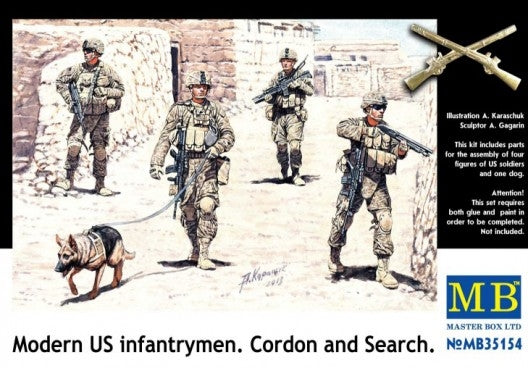 Modern U.S. infantrymen. Cordon and Search - Hobby Sense