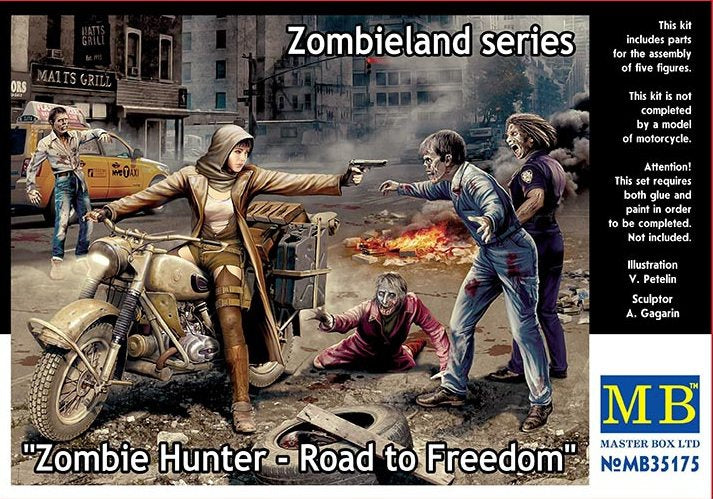 Zombie Hunter - Road to Freedom. Zombieland series - Hobby Sense